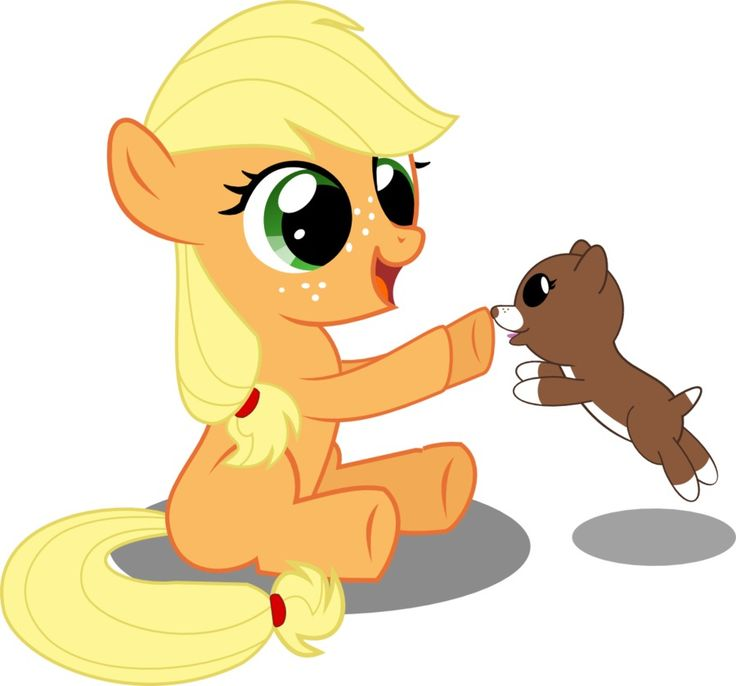 My little pony baby applejack - photo#6