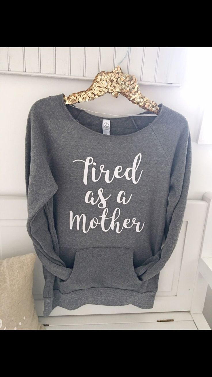Tired as a Mother slouchy sweater with pocket . comfy fall sweater . off the shoulder sweater . Motherhood by LiftHerUpClothing on Etsy https://www.etsy.com/listing/498000513/tired-as-a-mother-slouchy-sweater-with