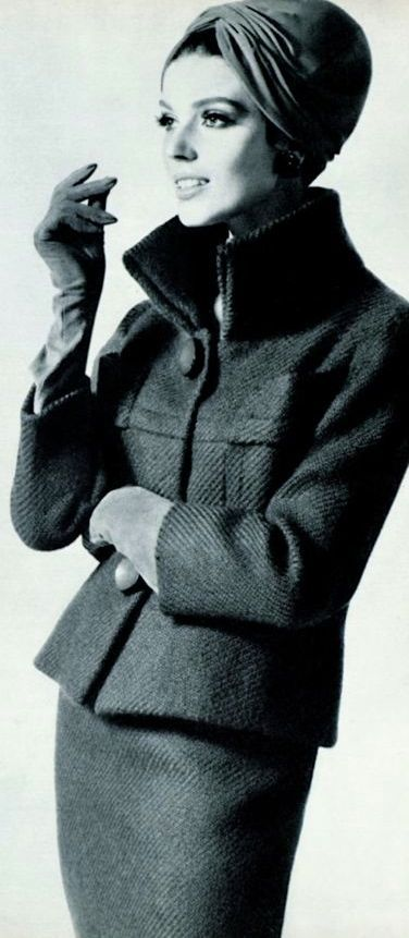 Jeanne Lanvin, 1963  Love the vintage style