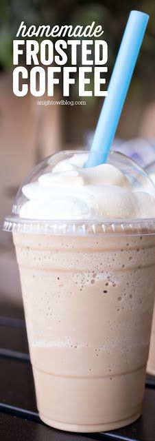 Homemade Frosted Coffee | This is a 'cheaters' iced cappuccino! Very easy to make, and very good!