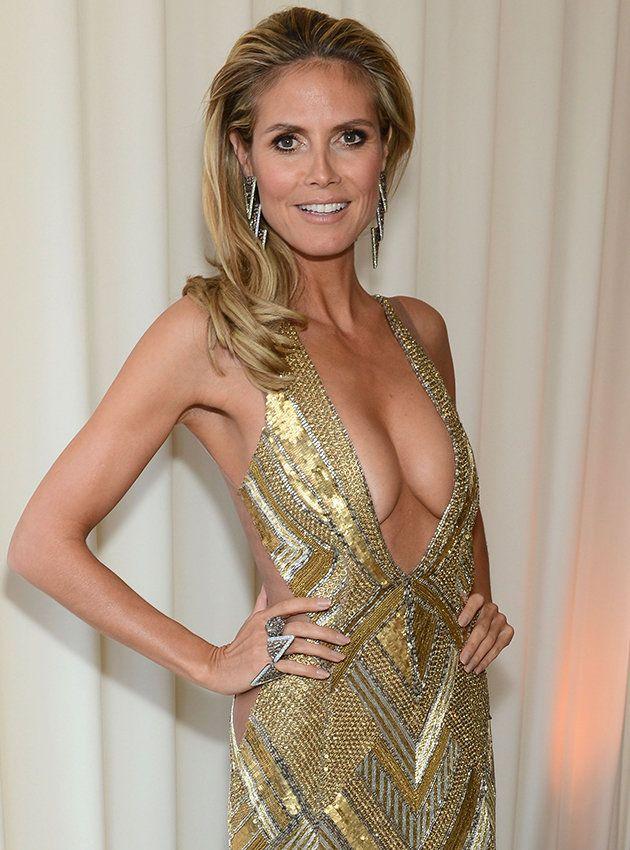 Heidi Klum Slip Klums Oscars Nipple Was Only