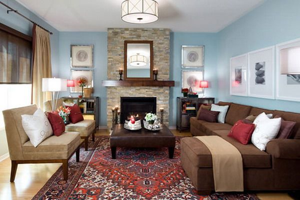 Beautiful Living Room Ideas Brown Sofa Hd Wall Wallpaper : Living ...