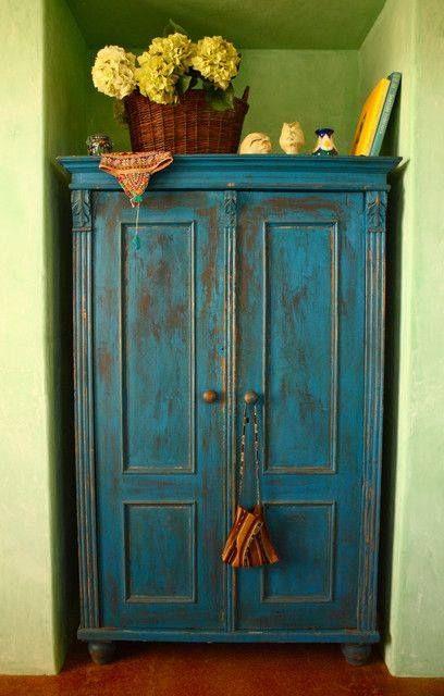 Turquoise Armoire