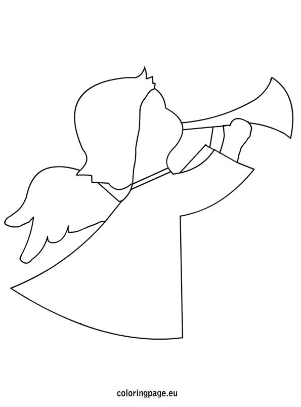 Christmas angel shape
