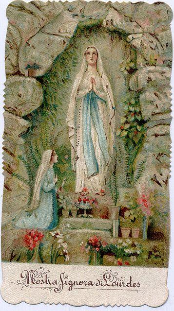 Virgen de Lourdes, y Santa Bernardita