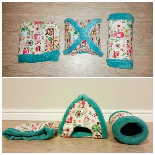 DIY hedgehog snuggle sack, tent and tunnel