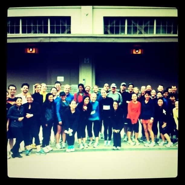 Having fun together! - Gap team takes a 5K run in GapFit.