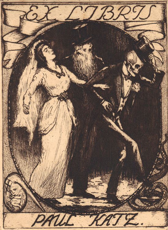 Ex Libris Mr. Reaper (5) Thirteen bookplates from the collection of Richard Sica