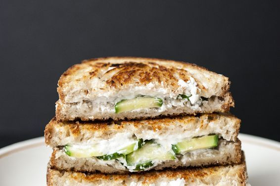 Cucumber Goat Cheese Grilled Cheese, a recipe on Food52
