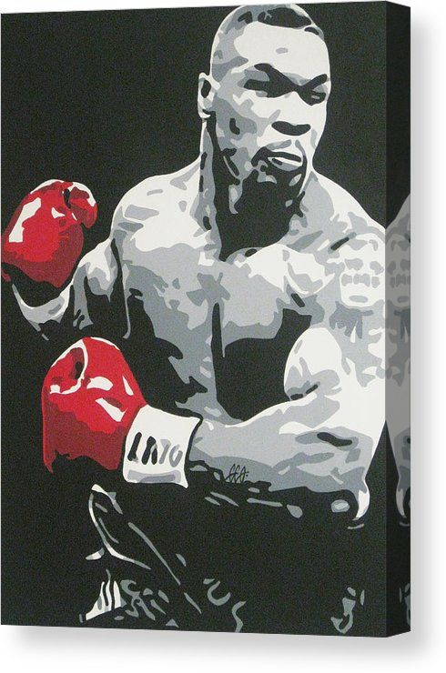 Mike Tyson 2 Canvas Print Canvas Art By Geo Thomson In 2020 Mike Tyson Boxing Posters Pop Art Wallpaper
