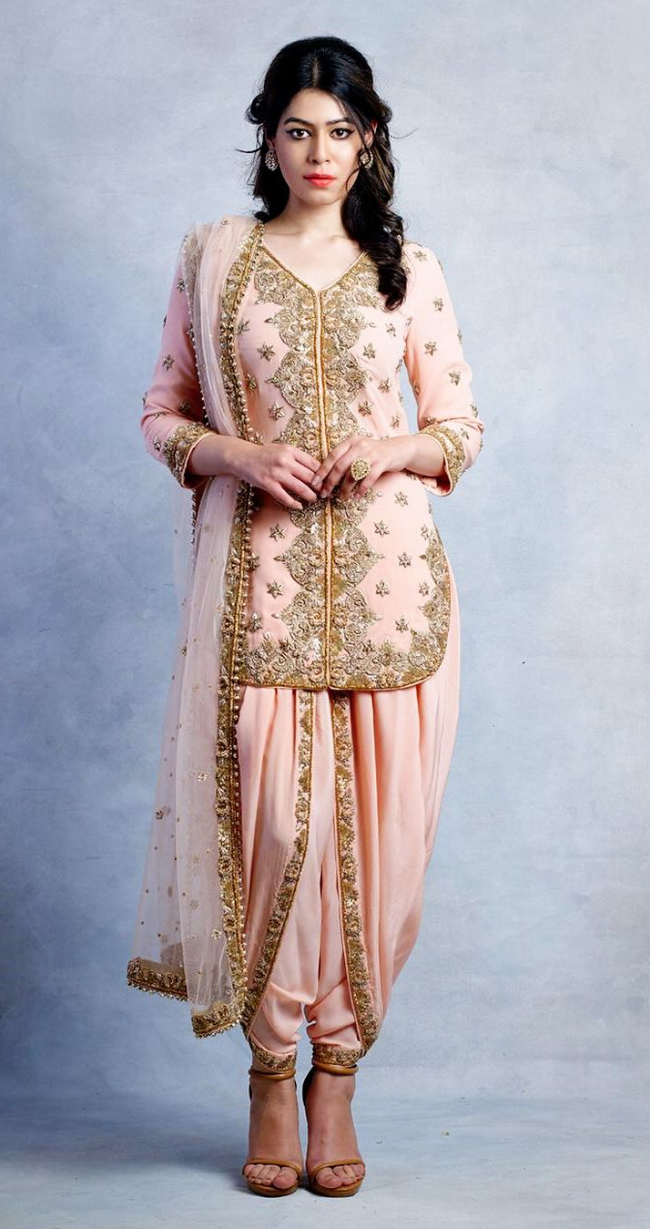 sue.mue. A embellished short kurta and a concept dhoti with a hint of the 60's style.