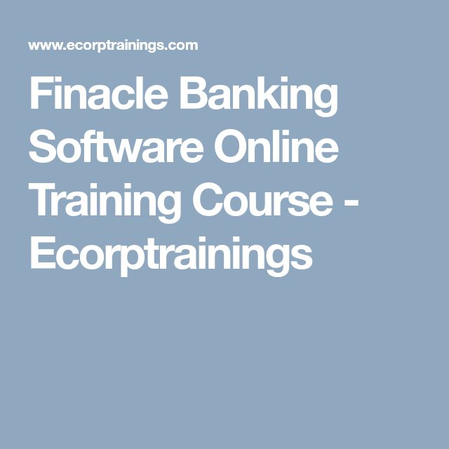 Finacle Banking Software Online Training Course - Ecorptrainings