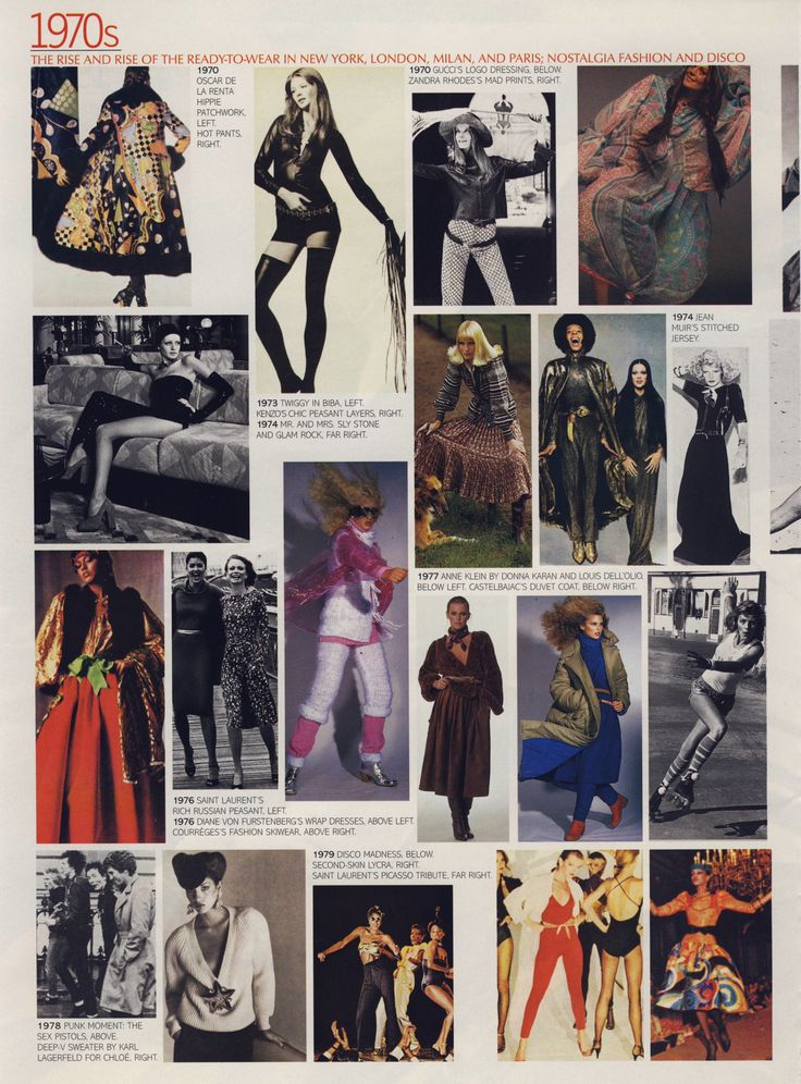 """What we wore"" 1970s.  Scanned from a late 90s American Vogue."