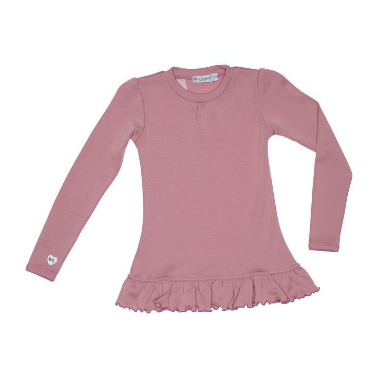 WoolLand ULLTUNIKA JENTE 3-7 ÅR OTTA, Pink Blush