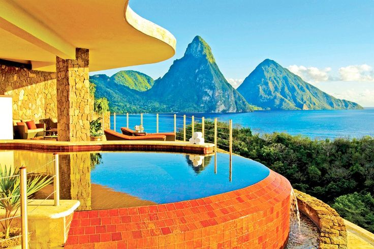 Jade Mountain St. Lucia #St #Lucia #Caribbean #Karibien #Resort #Jade #Mountain #Paradise #Paradis #Vacation #Semester #Travel #Hotel #Amazing #Pool #Ocean #Hav #Tropical #Romantic #Romantiskt