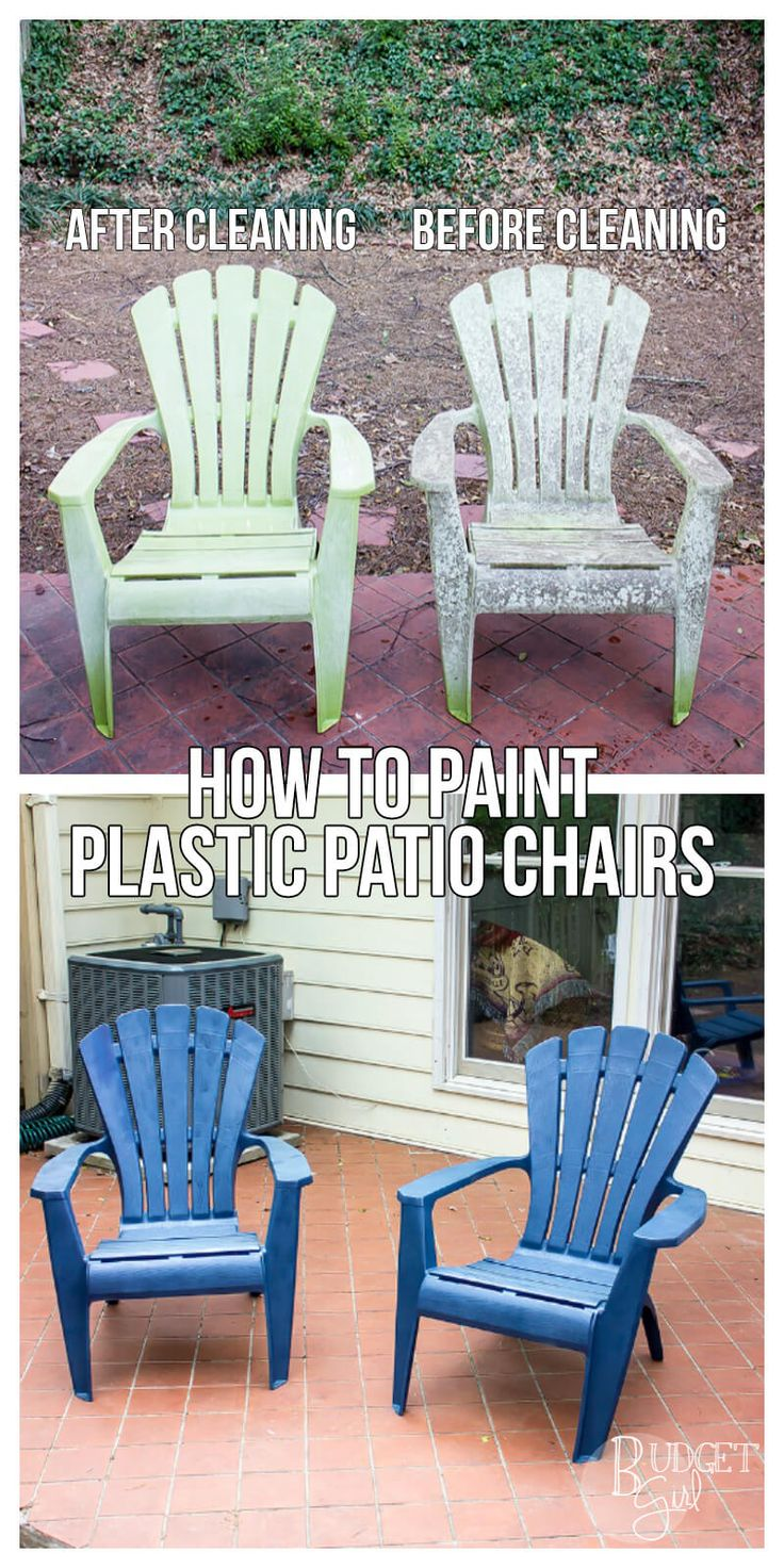 Figuring out how to properly paint plastic patio chairs is a great way to bring new life to your old, faded furniture.