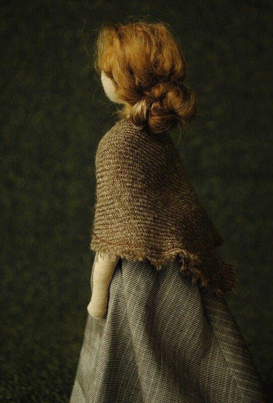 Art doll by Margeaux Davis from Willowynn. Handmade from salvaged fabrics. Www.willowynn.com