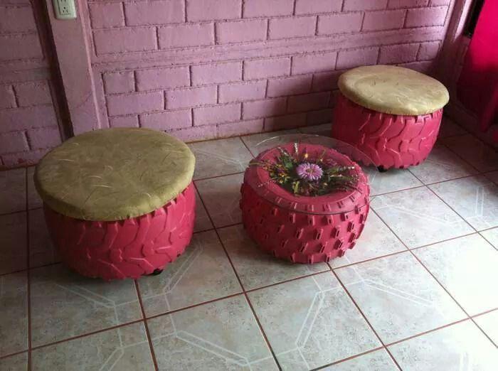 M s de 1000 ideas sobre asientos neum ticos en pinterest for Mesas con neumaticos