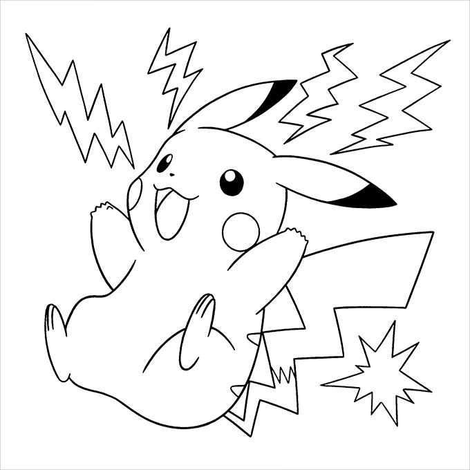 Pokemon Pikachu Iron Tail Free Coloring Pages Pikachu Coloring Page Pokemon Coloring Pages Pokemon Coloring
