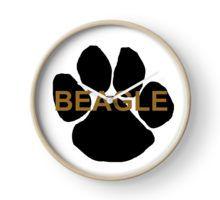 beagle name paw Clock