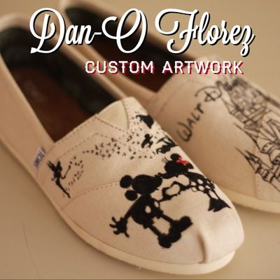 Custom toms disney silhouettes inspired artwork. shoes included - Thumbnail 1