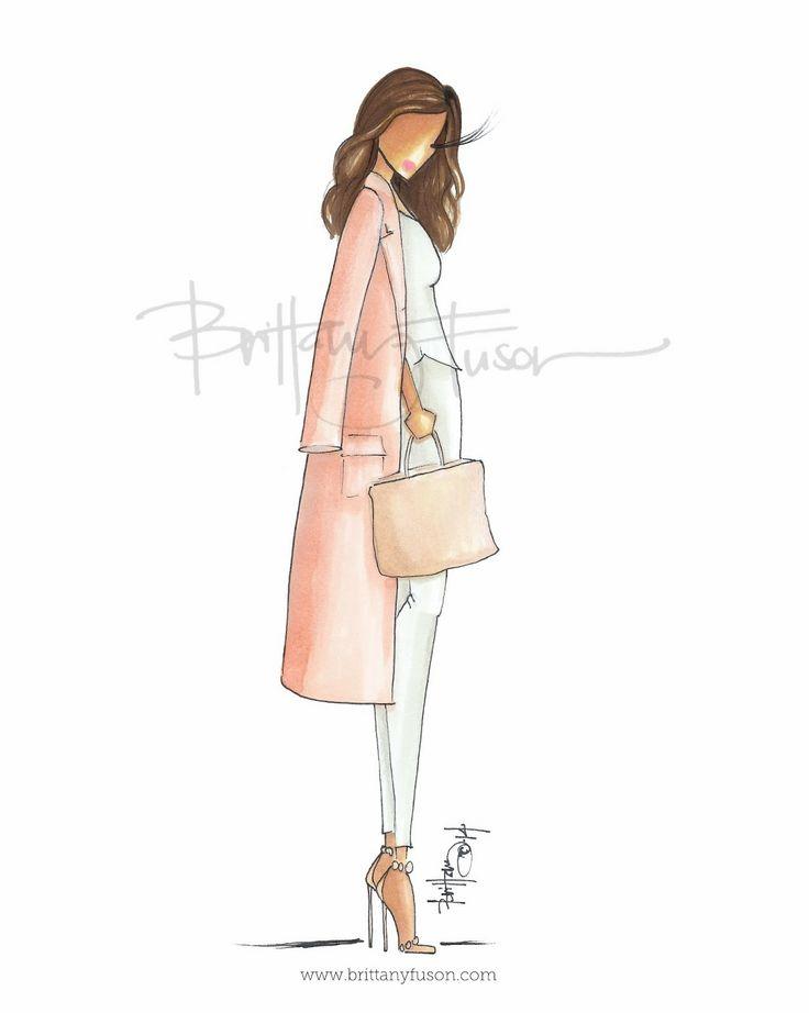 Blush Coat as seen on Kim Kardashian [ www.brittanyfuson.com ]