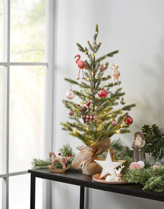 If You Don T Have The Space For A Full Sized Christmas Tree Why Not Get A Miniature Tree Avai Small Christmas Trees Christmas Decor Diy Christmas Decorations