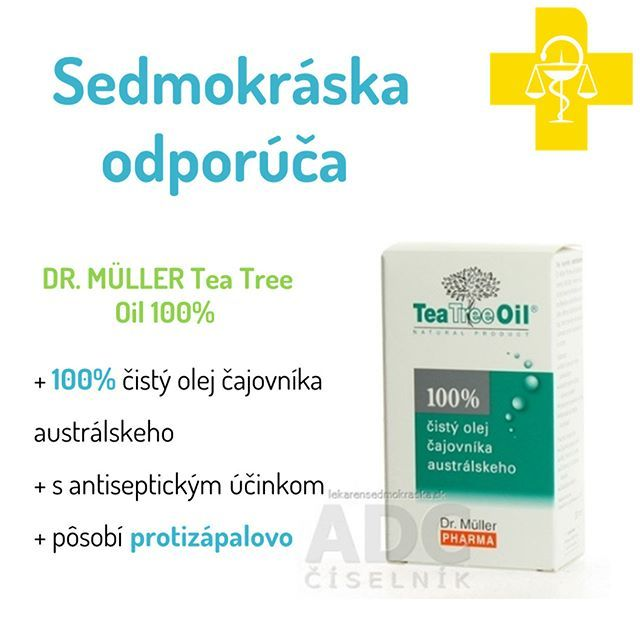 DR. MÜLLER Tea Tree Oil 100% ČISTÝ OLEJ 10ML - olej 1x10 ml