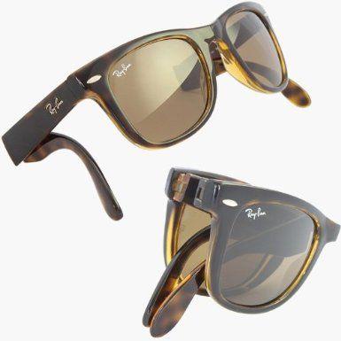 2012 RAY BAN FOLDING WAYFARER Sunglasses Tortoiseshell