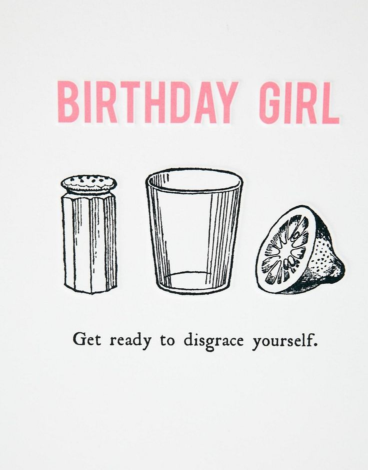 Image 4 of Birthday Girl 'Get Ready to Disgrace Yourself' Card