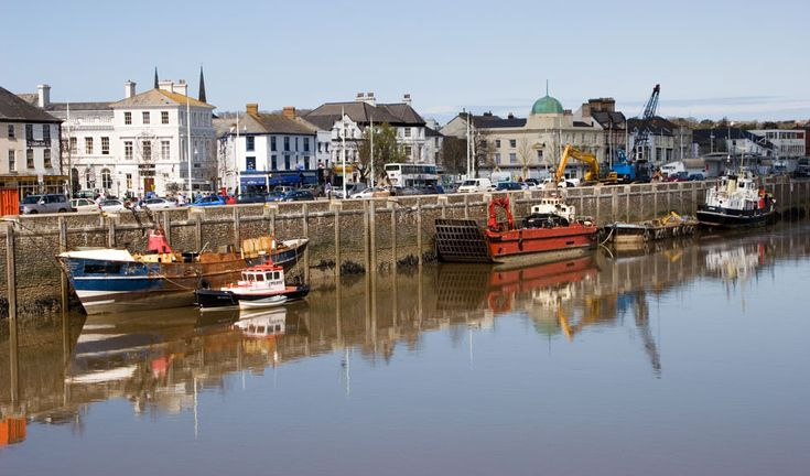 Bideford, Devon, England. Called the Little White Town by Charles Kingsley, novelist (author of the Water Babies) who lived locally.