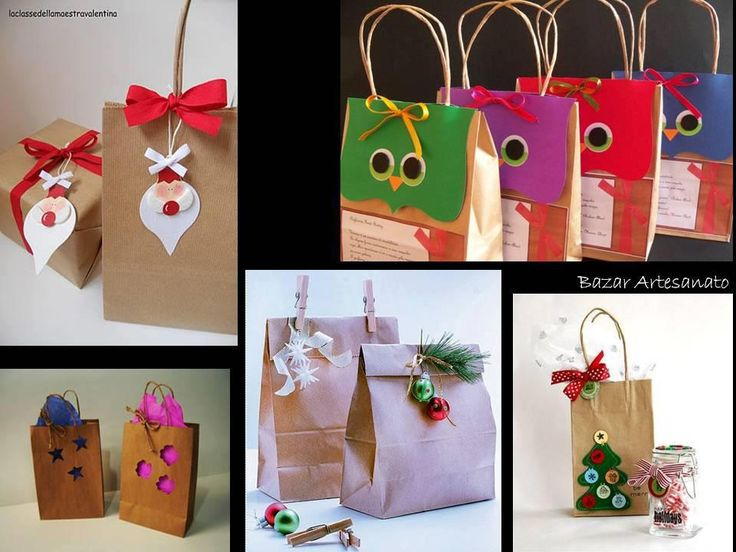 Embalagens: Packages, For Experiment, Gift Ideas, Gift, Ideas Para, Christmas, Christmas Ideas, Bags