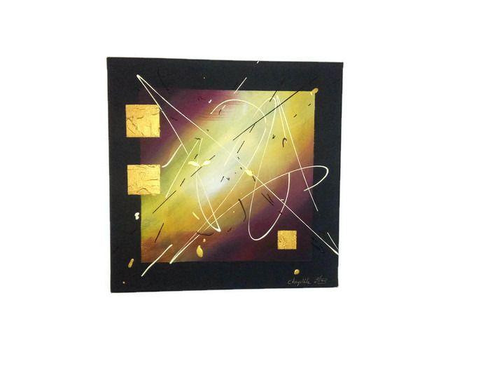 Tableau abstrait , peinture acrylique sur toile : Peintures par kikry-art