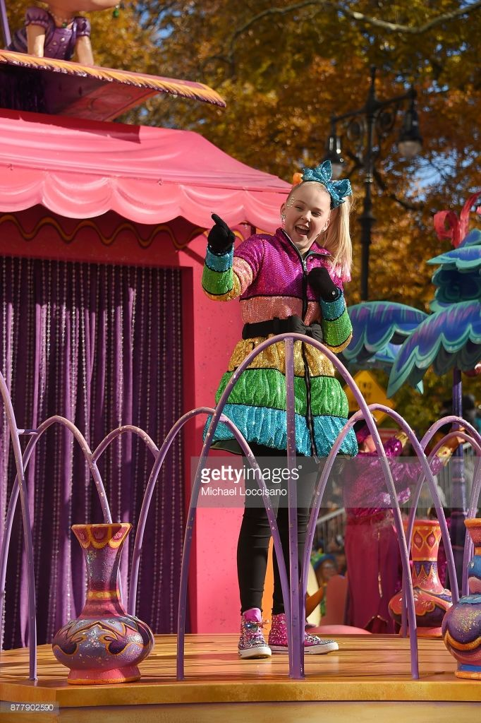 Singer and actress Jo Jo Siwa takes part in the 91st Annual Macy's Thanksgiving Day Parade on November 22, 2017 in New York City.