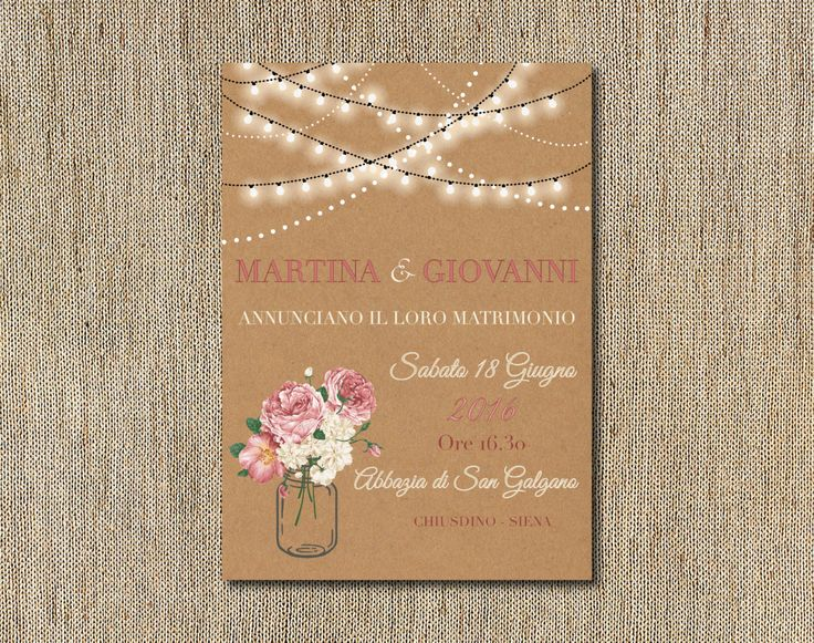 Set partecipazioni di nozze inviti matrimonio pocket craft rustic shabby chic, vintage wedding pocket set invitation kraft di FlowersFavours su Etsy