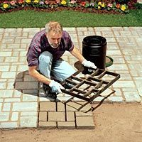 Garden DIY path & patio stones (mold) - tiny the concrete for a more rock like look