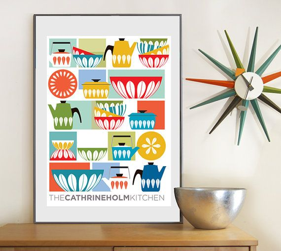 CATHRINEHOLM, Kitchen print, Kitchen Art, Mid Century Modern, Poster Print (16x20) on Etsy, $45.00