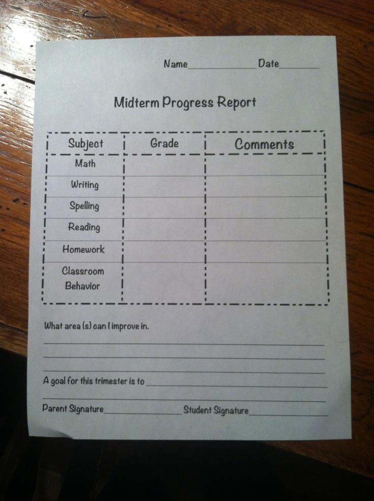 first grade progress report template - third grade progress report classroom organization