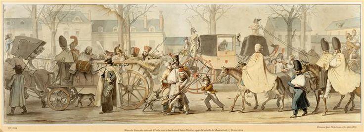 Etienne-Jean Delécluze   Les blessés français rentrant dans Paris après la bataille de Montmirail, 17 février 1814   Images d'Art