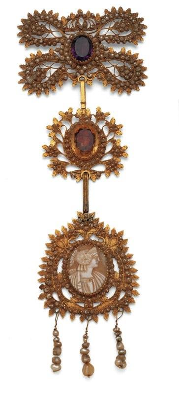"""Su lasu"". traditional Sardinian very big pendant"