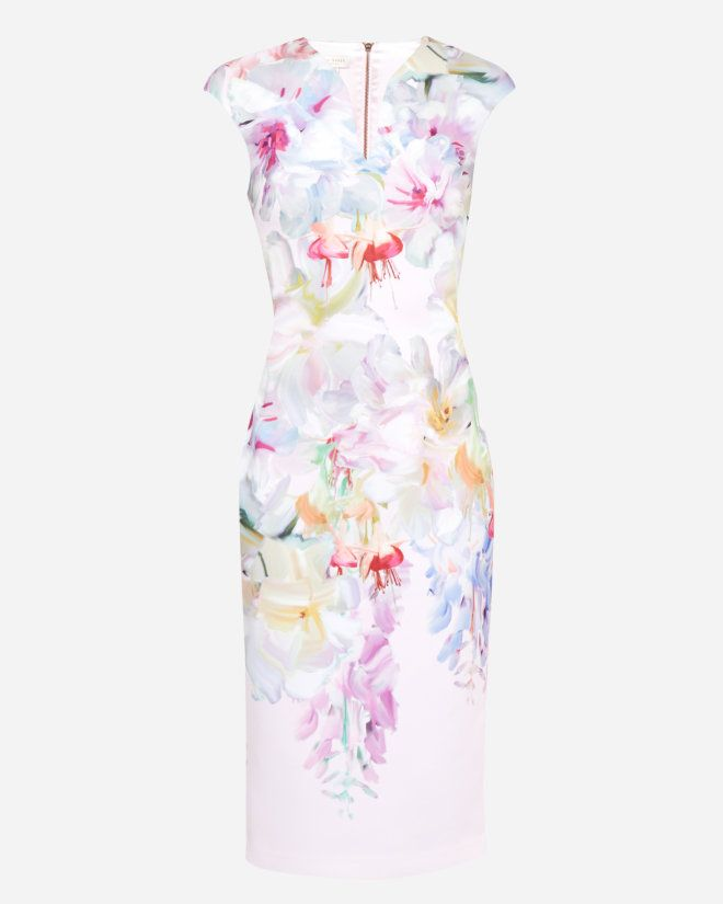 Hanging Gardens bodycon dress - Baby Pink | Dresses | Ted Baker