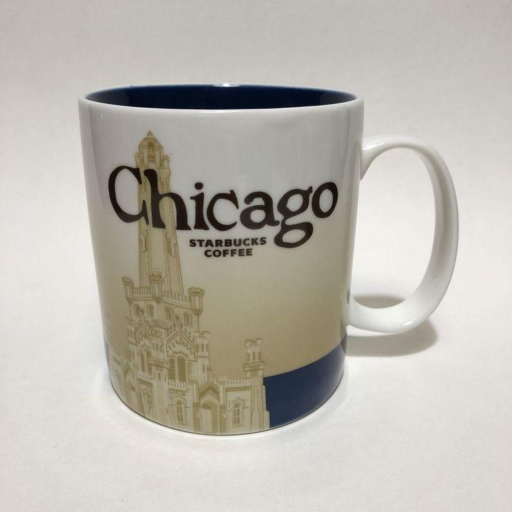 Starbucks Coffee Chicago City U.S. Collectors Series Large 16 Oz Mug Cup 2009  #Starbucks