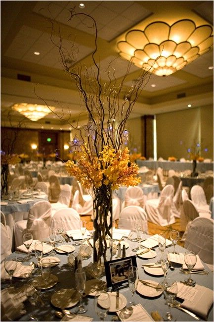 Anniversary Centerpieces Before She And Her Husband