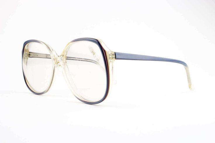 80s Vintage Oversized Eyeglasses   Round Glasses   NOS 1980s Blue Eyeglass Frame   Deadstock Eyewear – Anita Spring – Vintage Glasses