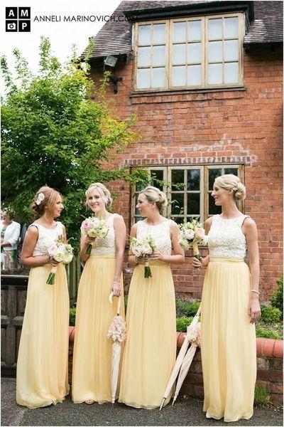 Modest Bridesmaid Dress,yellow Bridesmaid Dress,long Bridesmaid Dress,Cheap Bridesmaid dress ,PD504