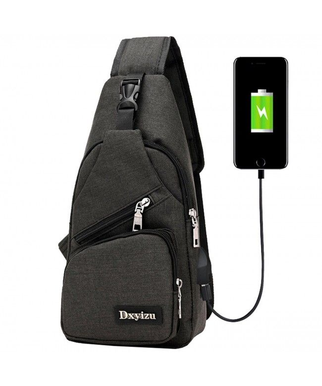 2809df5dd Super Modern Unisex Nylon Shoulder Bag with USB Port Multi Pockets Chest Bag  Cool Cross body Bag - Black - CZ188Q4ZLG2 #Bags #handbags #gifts #Style ...