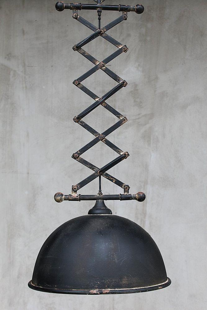Scherenarm Lampe Factory  Industrielampe shabby Fabrik Industrie Hängeleuchte