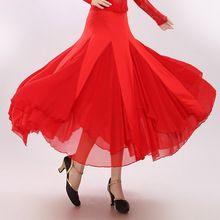 Sala da ballo valzer abiti nero/rosso sala da ballo pratica gonna s/m/l danza flamenco sala da ballo vestito da ballo concorrenza nave gratis(China (Mainland))