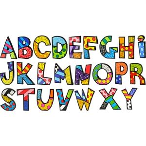"Picture of Letters 6"" Romero Britto"