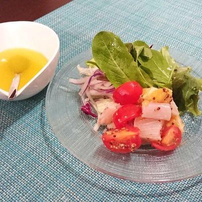 ハマチといよかんのマリネ&いよかんドレッシングのサラダ by 中村 ...